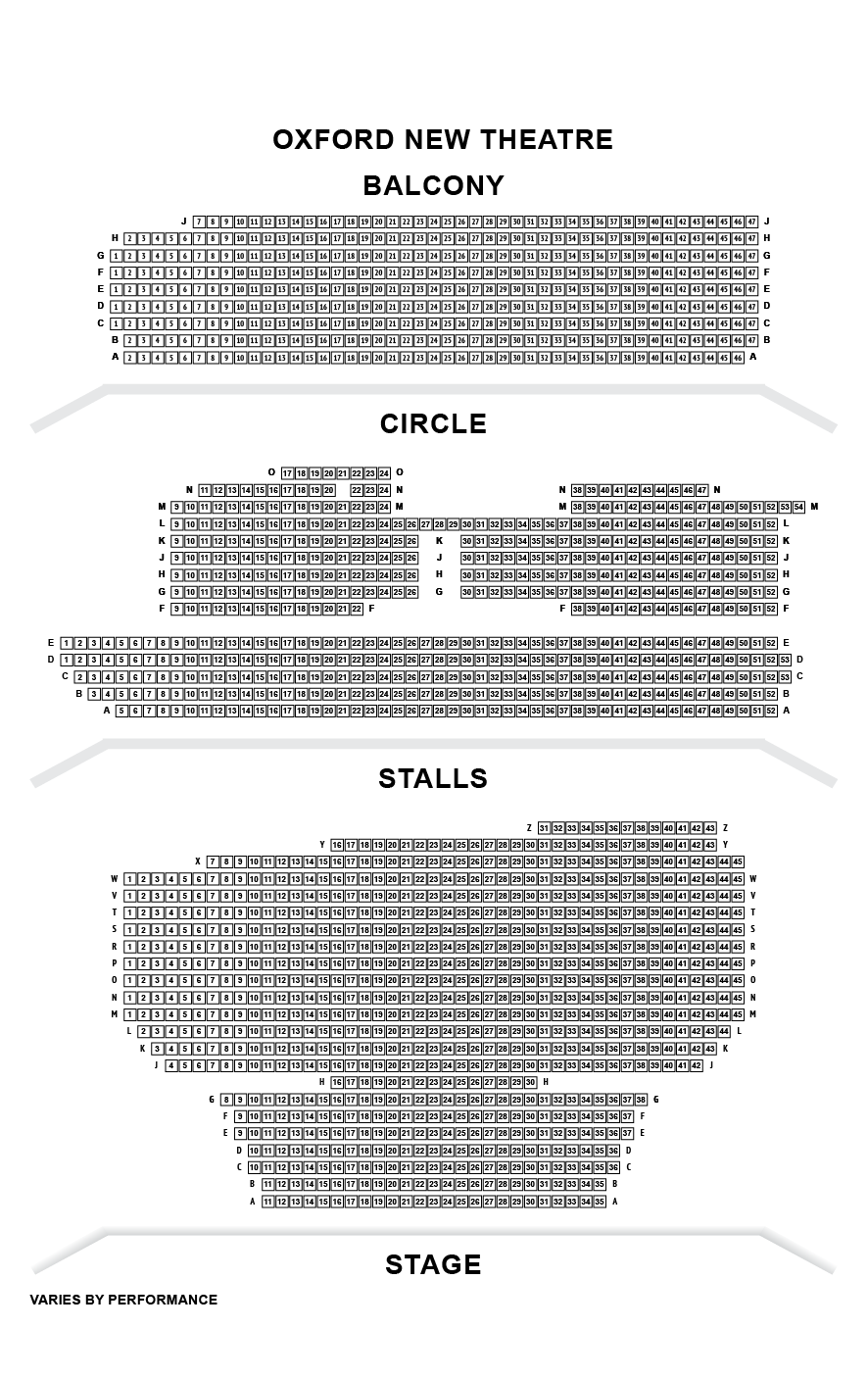 Quays Theatre Seating Plan Quays Theatre Business Hire The